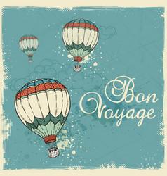 Blue vintage travel background vector