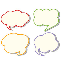 four different cloud speech templates vector image
