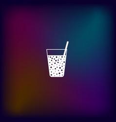 Gas drink cup icon vector