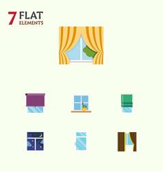 Flat icon frame set of flowerpot glass frame vector
