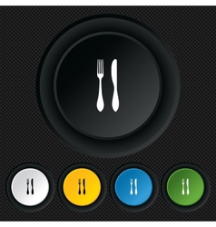 Eat sign icon cutlery symbol knife and fork vector