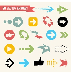 Collection of Arrows vector image