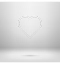 Icon in light studio room vector image
