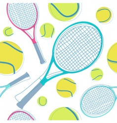 Tennis pattern vector