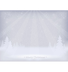 Abstract winter landscape background vector