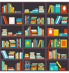 Bookshelf seamless background vector
