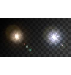 modern light flash on sample background vector image