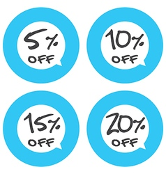 Sale discount icons vector