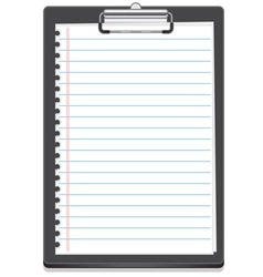 clipboard icon with paper vector image
