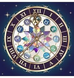 Astrological clock vector