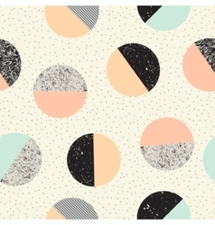 Abstract seamless pattern with textured circles vector
