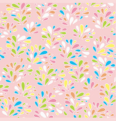 Baby floral pattern texture with drops vector