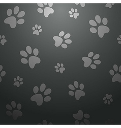 Black footprints seamless pattern vector
