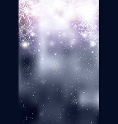 Blurred silver christmas winter background with vector