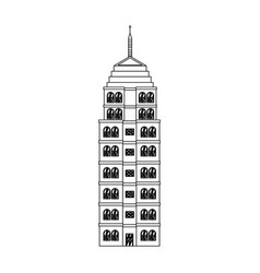 building hotel architecture facade image outline vector image vector image