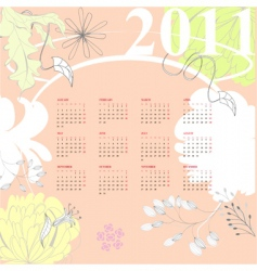 calendar for 2011 vector image vector image