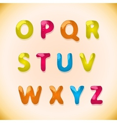 Candy alphabet o - z vector