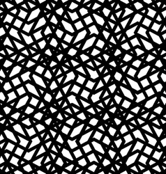 Creative continuous black and white mess pattern vector image vector image