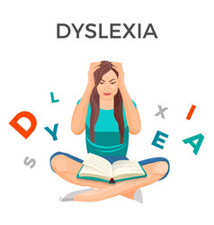 dyslexia mental disorder conceptual vector image vector image