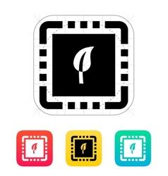 Eco cpu icon vector