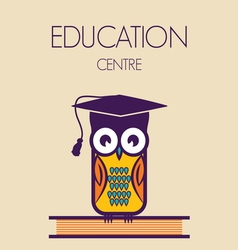 education owl vector image vector image