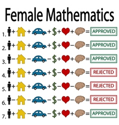 Female mathematics vector