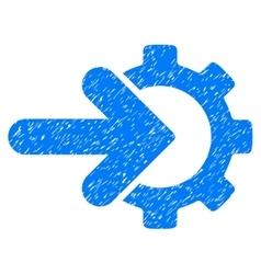 Gear integration grainy texture icon vector