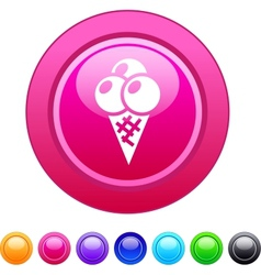 Icecream circle button vector image vector image