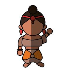 Indian woman cartoon vector
