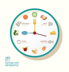 Infographic watch and flat icons idea eatting vector