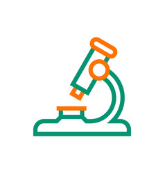 Microscope icon on white background vector