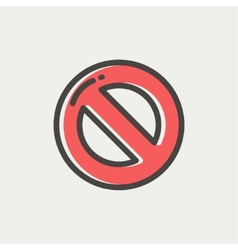 Not allowed thin line icon vector image
