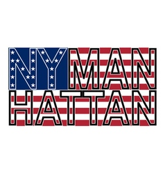 Nyc manh color vector