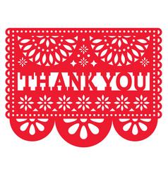 Papel picado design - thank you card vector