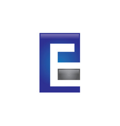 pe letter logo vector image vector image