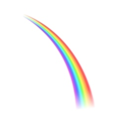 Rainbow icon realistic style vector image vector image