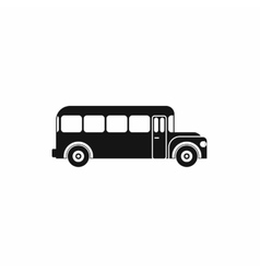 School bus icon simple style vector