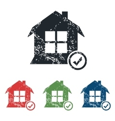 Select house grunge icon set vector