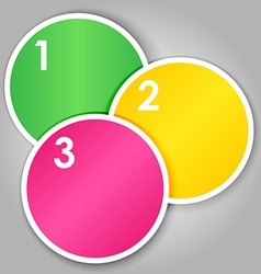 Set 2 of numbered round stickers vector image vector image