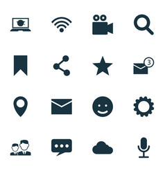 Social icons set collection of letter inbox vector
