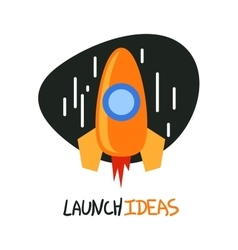 Start up rocket logo concept symbol vector