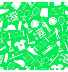 Tennis sport theme white and green seamless vector