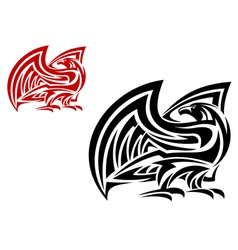 Tribal eagle mascot in two colors vector image