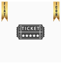 Vintage Ticket Icon on background vector image