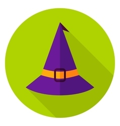 Witch Hat Circle Icon vector image