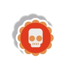 paper sticker Halloween icon vector image