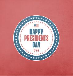 Presidents day card vector
