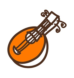 A stringed instrument vector image