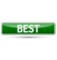 Best - abstract beautiful button with text vector