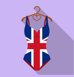 women swimsuit closed with the flag of america vector image